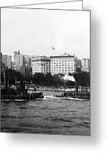 Battery Park And Lower Manhattan New York City - C 1904 Greeting Card by International  Images