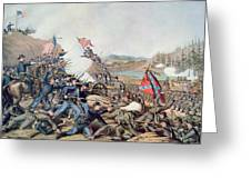 Battle Of Franklin November 30th 1864 Greeting Card by American School