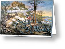 Battle Of Lookout Mount Greeting Card by Granger