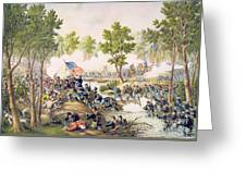Battle Of Spottsylvania May 1864 Greeting Card by American School