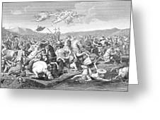 Battle Of The Milvian Bridge, 312 Ad Greeting Card by Photo Researchers
