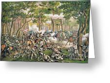 Battle Of The Wilderness May 1864 Greeting Card by American School