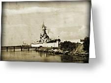 Battle Ship Greeting Card by Malania Hammer