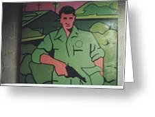 Battle Veteran Greeting Card by James Larson