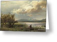 Bayern Landscape Greeting Card by Augustus Wilhelm Leu