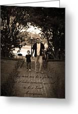 Be A Dad Greeting Card by Kelly Hazel