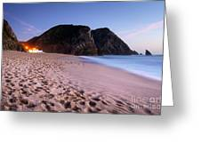 Beach At Evening Greeting Card by Carlos Caetano