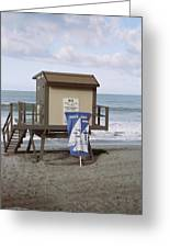 Beach Church Greeting Card by Julianna Danson