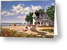 Beach Days Greeting Card by Michael Swanson