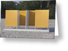 Beach Dressing Rooms Greeting Card by Jaak Nilson