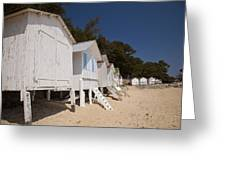 Beach Huts 1 Greeting Card by Stephane Grossin