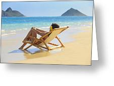Beach Lounger II Greeting Card by Tomas del Amo