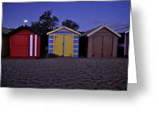 Beach Sheds Greeting Card by Nishan De Silva