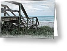 Beach Steps Greeting Card by Joan  Minchak
