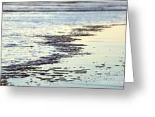 Beach Water Greeting Card by Henrik Lehnerer