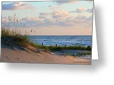 Beaches Of Outer Banks Nc Greeting Card by Laurinda Bowling