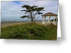 Beachside Gazebo Greeting Card by Heidi Smith