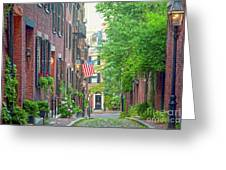 Beacon Hill Greeting Card by Susan Cole Kelly