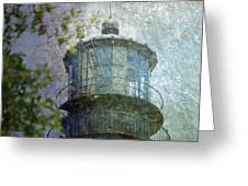 Beacon of Hope Greeting Card by Judy Hall-Folde