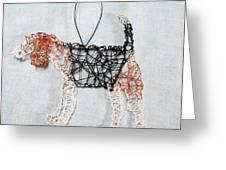Beagle Ornament Greeting Card by Charlene White