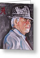 Bear Bryant Greeting Card by Mikayla Henderson