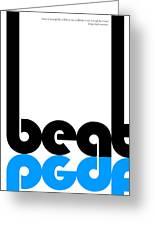 Beat Poster Greeting Card by Naxart Studio