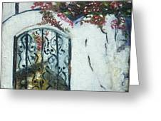 Behind The Iron Gate Greeting Card by Therese Alcorn