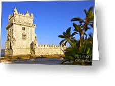Belem Tower Greeting Card by Carlos Caetano
