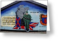 Belfast Mural Greeting Card by Thomas R Fletcher