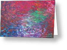 Belief In Cool Fire Greeting Card by Sybil Staples
