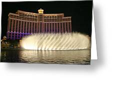Bellagio Fountains 4 Greeting Card by Charles Warren