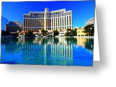 Bellagio Waters Greeting Card by Linda Edgecomb
