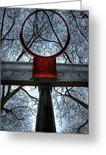 Below The Rim Greeting Card by Bryan Hochman