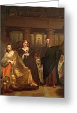 Belshazzar's Feast Greeting Card by Washington Allston