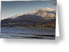 Ben Nevis And Loch Linnhe Panorama Greeting Card by Gary Eason