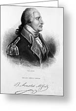 Benedict Arnold, American Traitor Greeting Card by Omikron