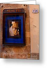 Beniiti In Lucca Greeting Card by Bob Christopher