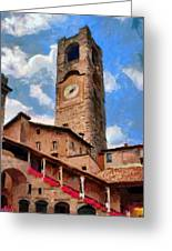 Bergamo Bell Tower Greeting Card by Jeff Kolker