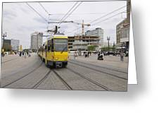 Berlin Alexanderplatz Square Greeting Card by Matthias Hauser