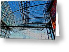 Berlin Central Station ...  Greeting Card by Juergen Weiss