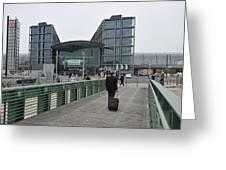 Berlin Hauptbahnhof Main Train Station Greeting Card by Matthias Hauser