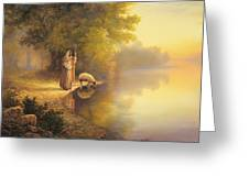 Beside Still Waters Greeting Card by Greg Olsen