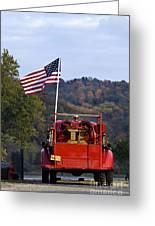 Bethlehem Fire Truck - D008199 Greeting Card by Daniel Dempster