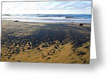 Bi Color Beach  Greeting Card by Tim  Fitzwater