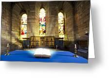 Bible In Church Greeting Card by John Short