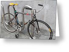 Bicycle With Stickers Greeting Card by Wingsdomain Art and Photography