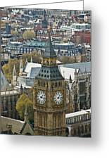 Big Ben Up Close And Personal Greeting Card by Douglas Barnett