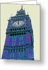 Big Blue Ben Greeting Card by Beth Saffer