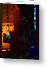 Big City Abstract Greeting Card by Wingsdomain Art and Photography