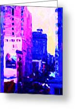 Big City Blues Greeting Card by Wingsdomain Art and Photography